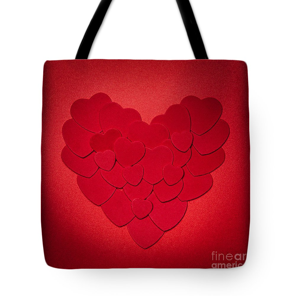 Heart Tote Bag featuring the photograph Red Heart by Elena Elisseeva