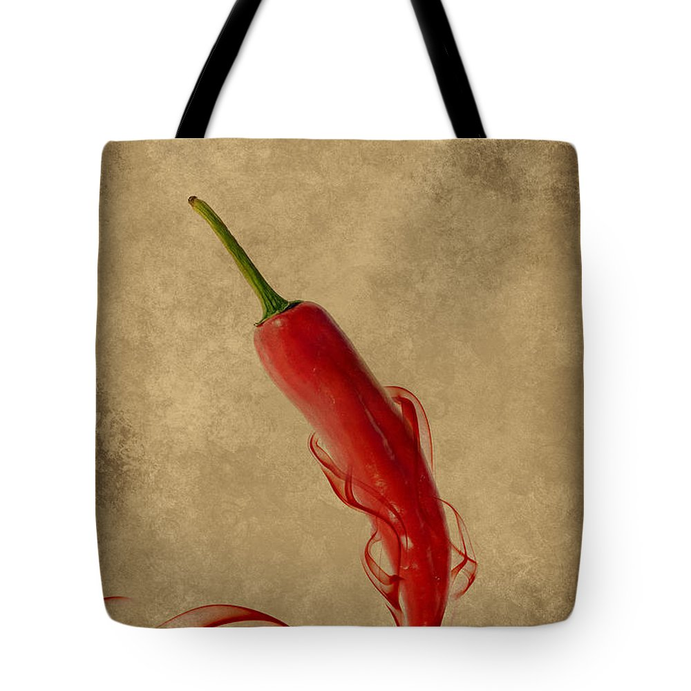 Spice Tote Bag featuring the photograph Red Hot Chili Pepper Poster by Eti Reid