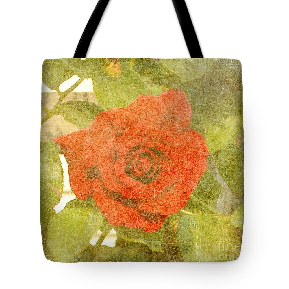 Summer Tote Bag featuring the photograph Red Hot Rose by Alys Caviness-Gober