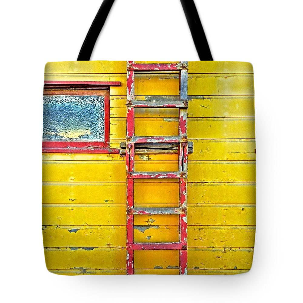 Sanfrancisco Tote Bag featuring the photograph Red Ladder by Julie Gebhardt