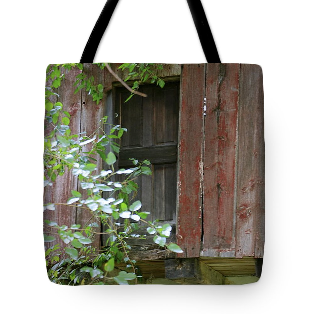 Red Tote Bag featuring the photograph Red Paint by Lynn Chendorain