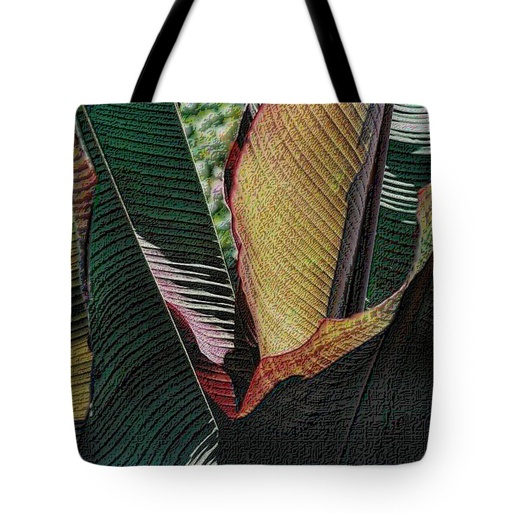 Red Palm Tote Bag featuring the photograph Red Palm Leaves by Nadalyn Larsen