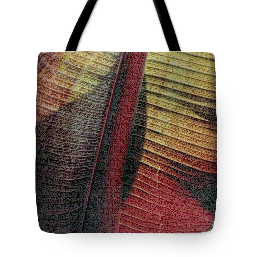 Red Palm Tote Bag featuring the photograph Red Palm by Nadalyn Larsen