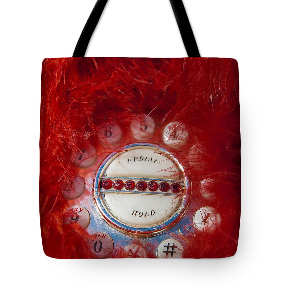 Mid Century Tote Bag featuring the photograph Red Phone For Emergencies by Scott Campbell