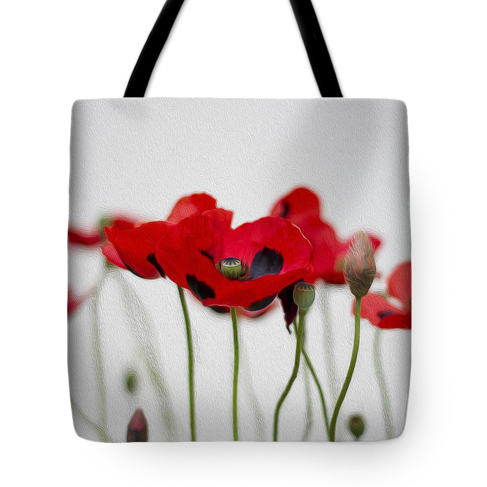 Clare Bambers Tote Bag featuring the photograph Red Poppy by Clare Bambers