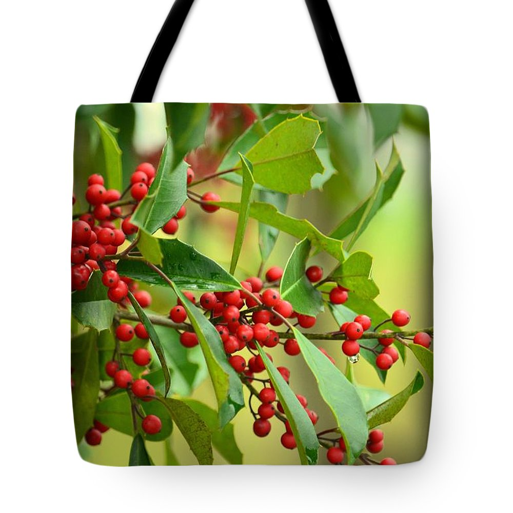 Red Ripe Berries Tote Bag featuring the photograph Red Ripe Berries by Maria Urso