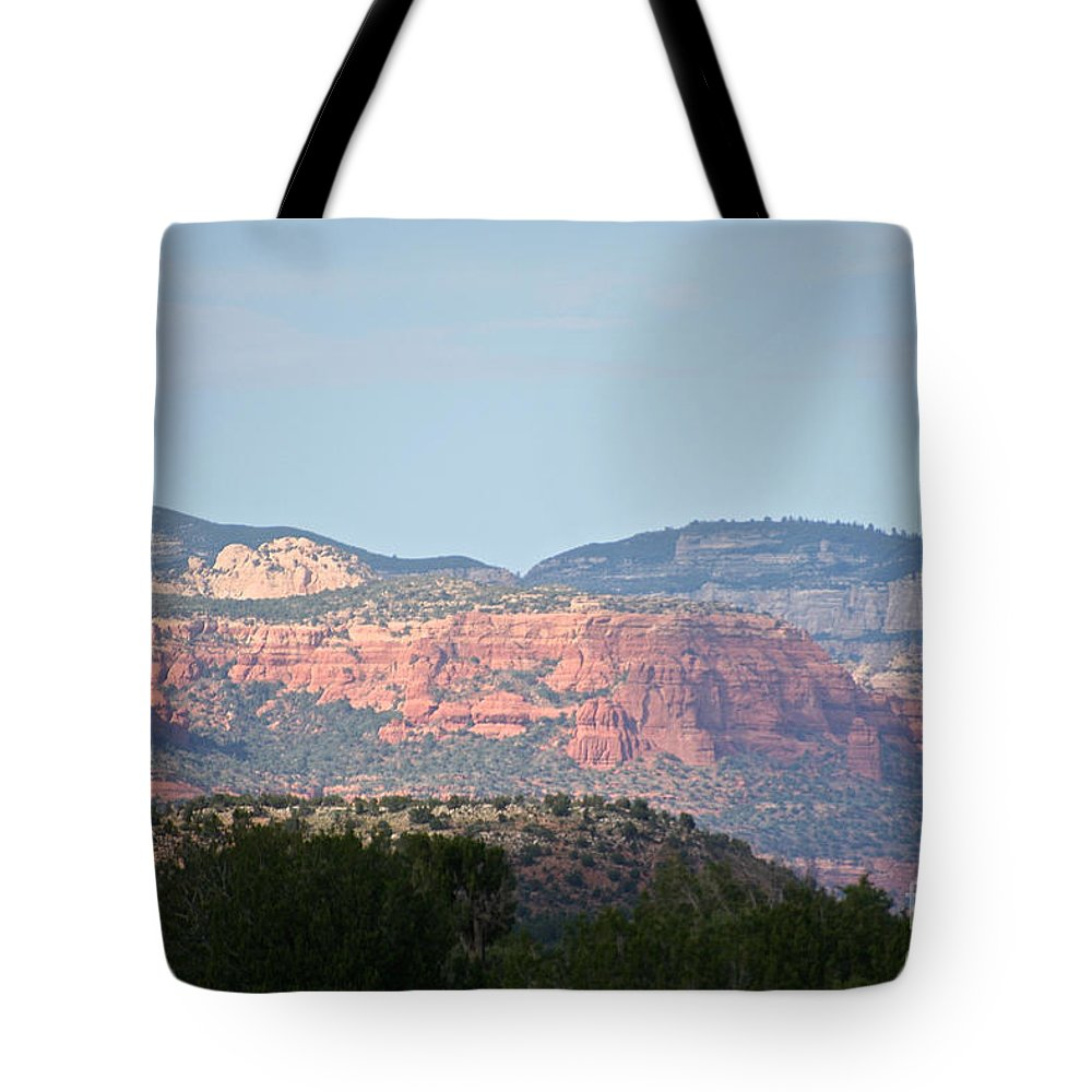 Outdoors Tote Bag featuring the photograph Red Rock Evening by Susan Herber