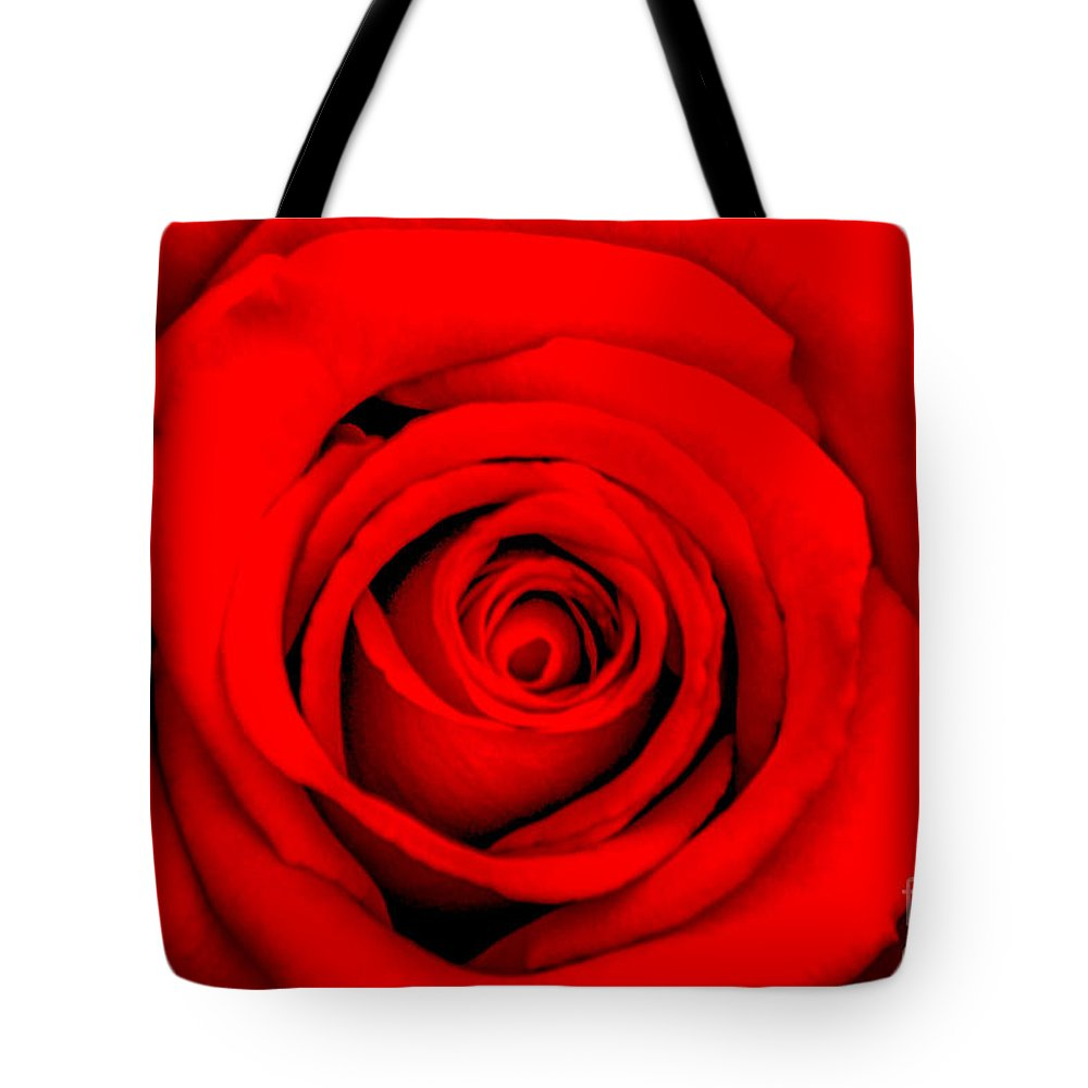 Spring Flowers Tote Bag featuring the photograph Red Rose 1 by Az Jackson