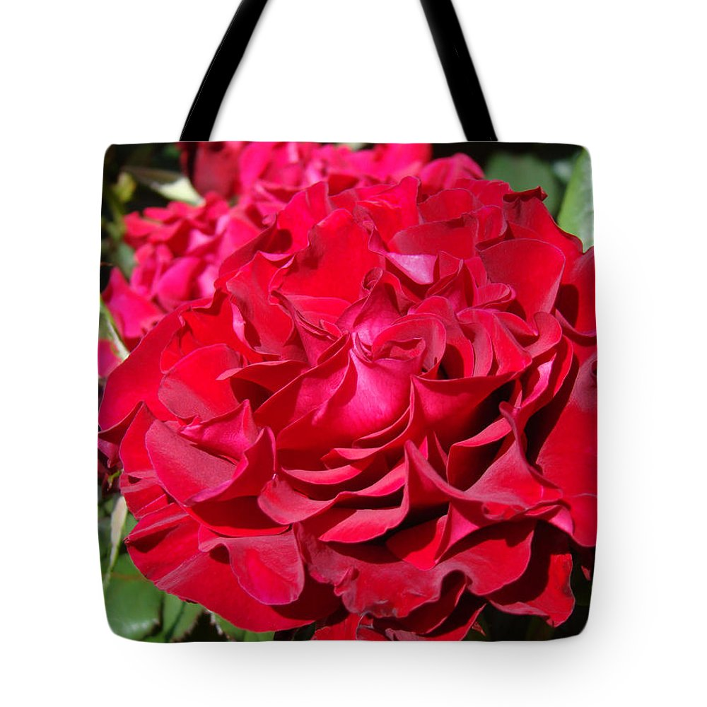 Rose Tote Bag featuring the photograph Red Rose Art Prints Big Roses Floral by Baslee Troutman