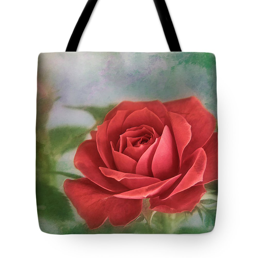 Bloom Tote Bag featuring the photograph Red Rose II by David and Carol Kelly