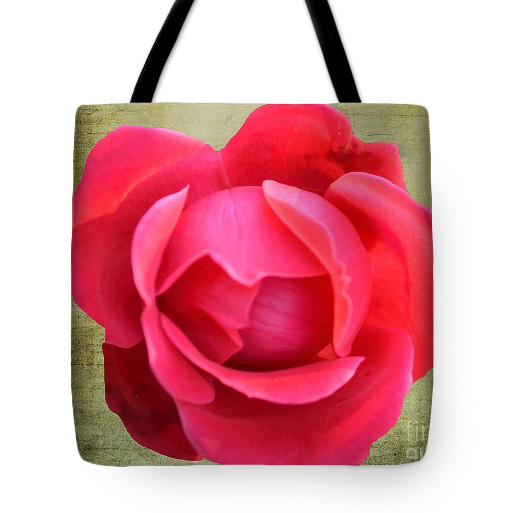 Red Rose Of Love Tote Bag featuring the photograph Red Rose Of Love by Luther Fine Art
