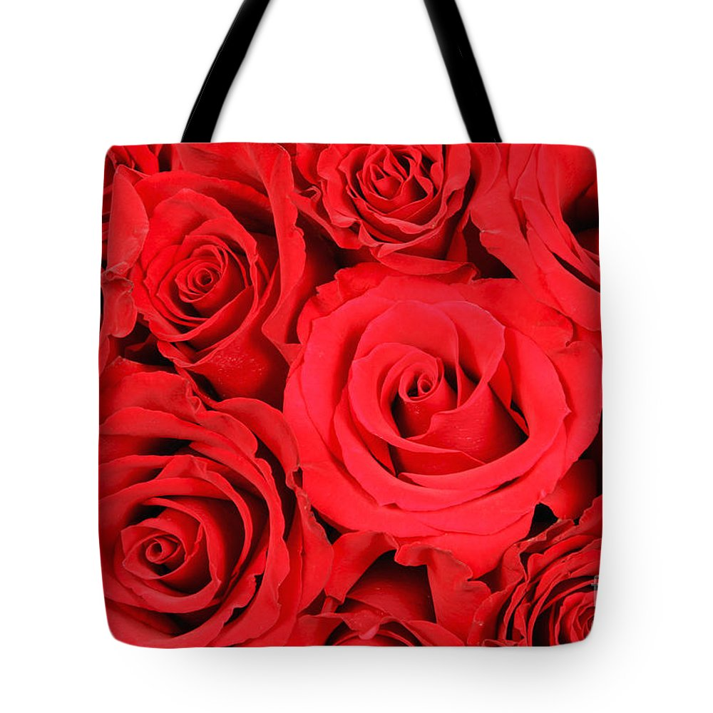 Flora Tote Bag featuring the photograph Red Roses by David Davis