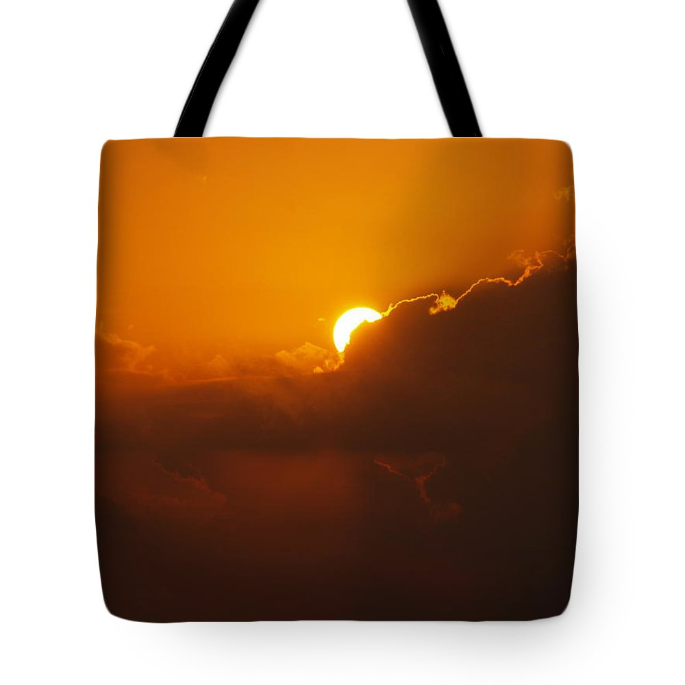 Sunset Tote Bag featuring the photograph Red Sky by Athala Carole Bruckner