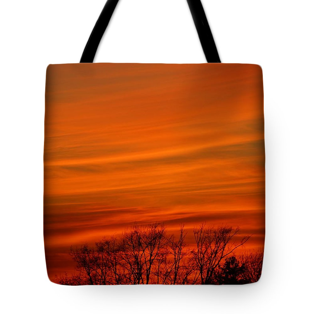Sunset Tote Bag featuring the photograph Red Sky by Jeffery L Bowers