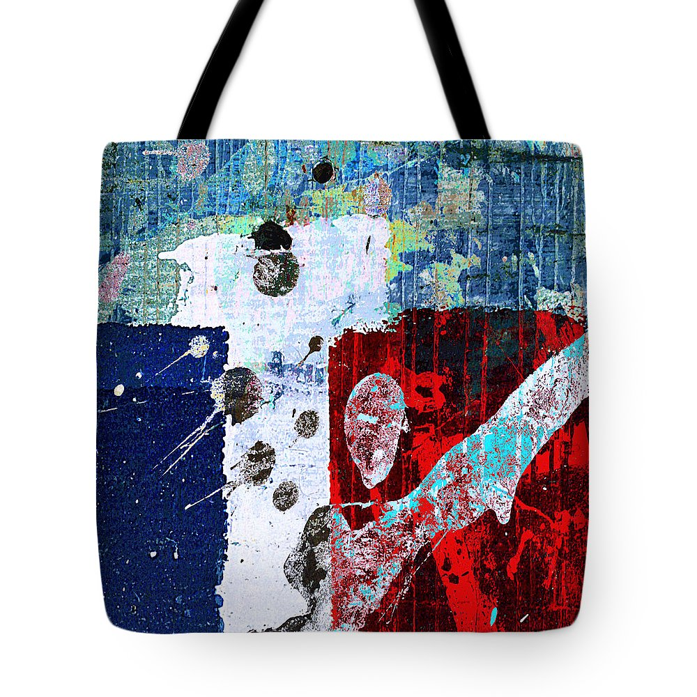 Red State Tote Bag featuring the mixed media Red State by Dominic Piperata