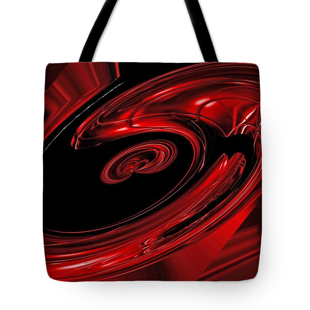 Multi Colored Tote Bag featuring the painting Red Swirl by FL collection