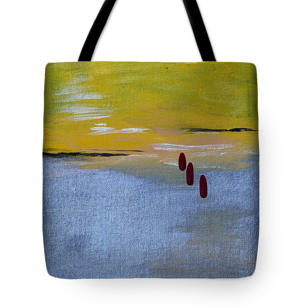 Tears Tote Bag featuring the painting Red Tears by Donna Blackhall