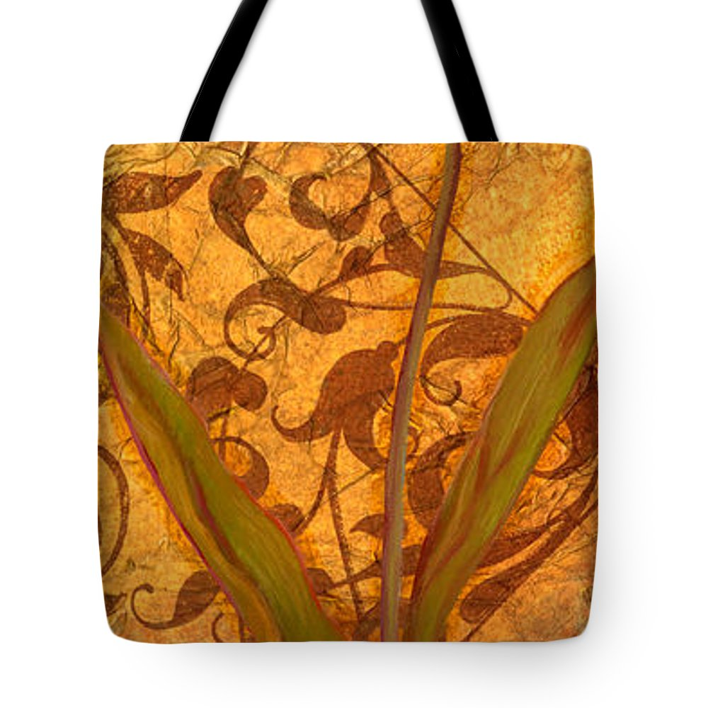 Home Tote Bag featuring the digital art Red Tulip Two by Viv Eisner