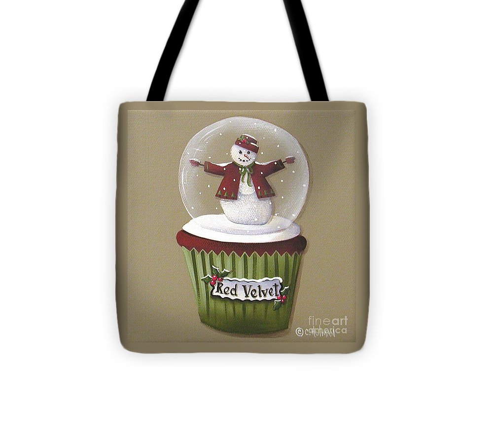 Art Tote Bag featuring the painting Red Velvet Cupcake by Catherine Holman
