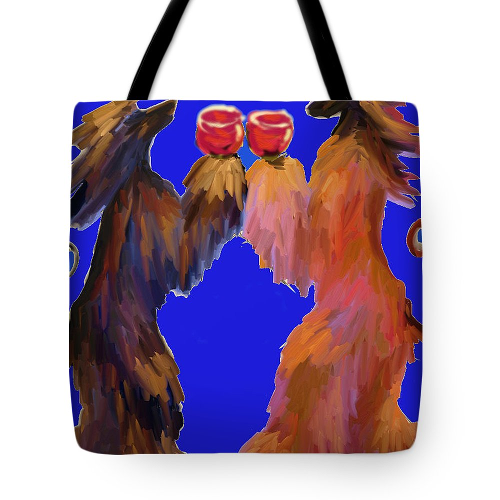Ipad Finger Painting Tote Bag featuring the painting Red Wine by Terry Chacon