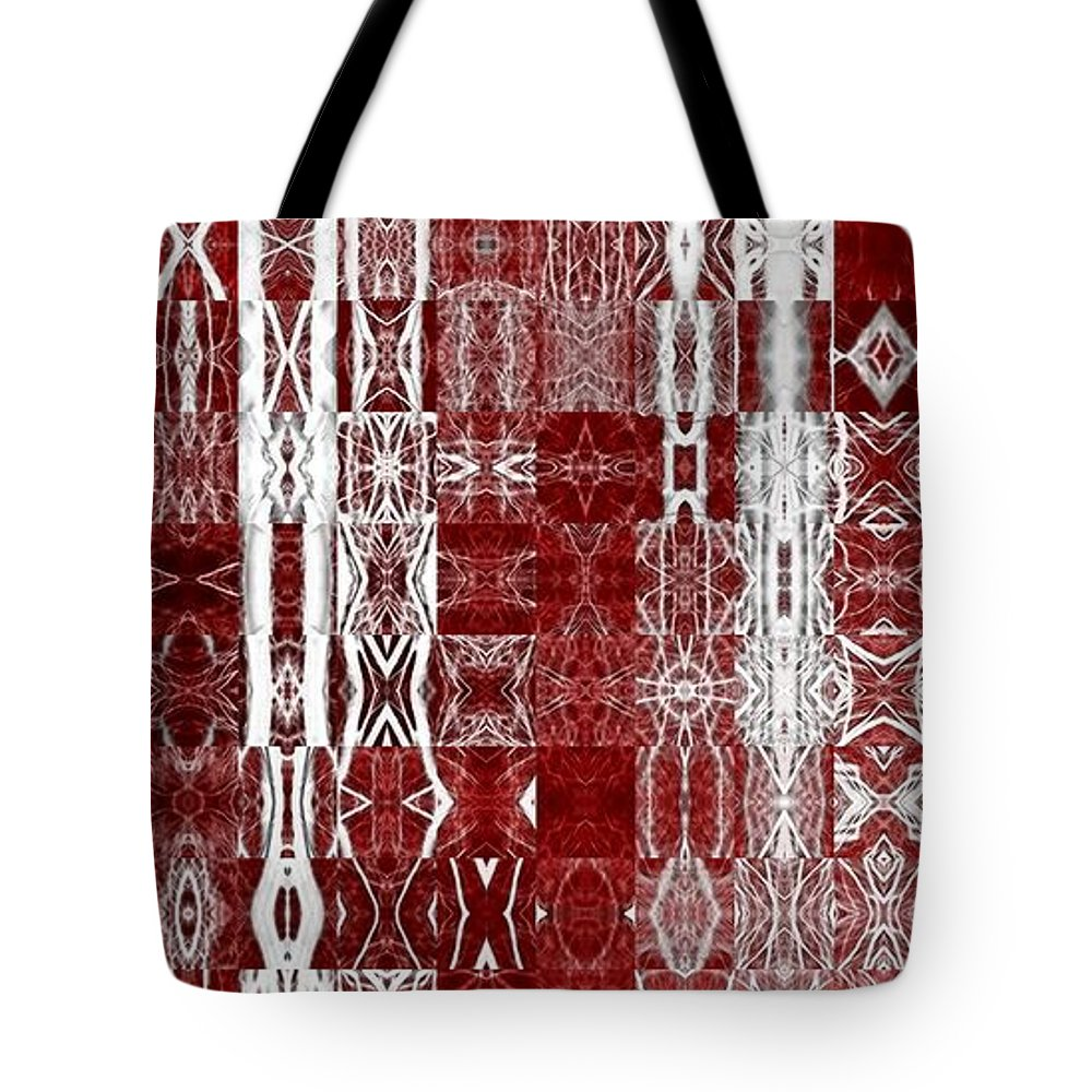 Red Tote Bag featuring the photograph Redwood by Heather Bice