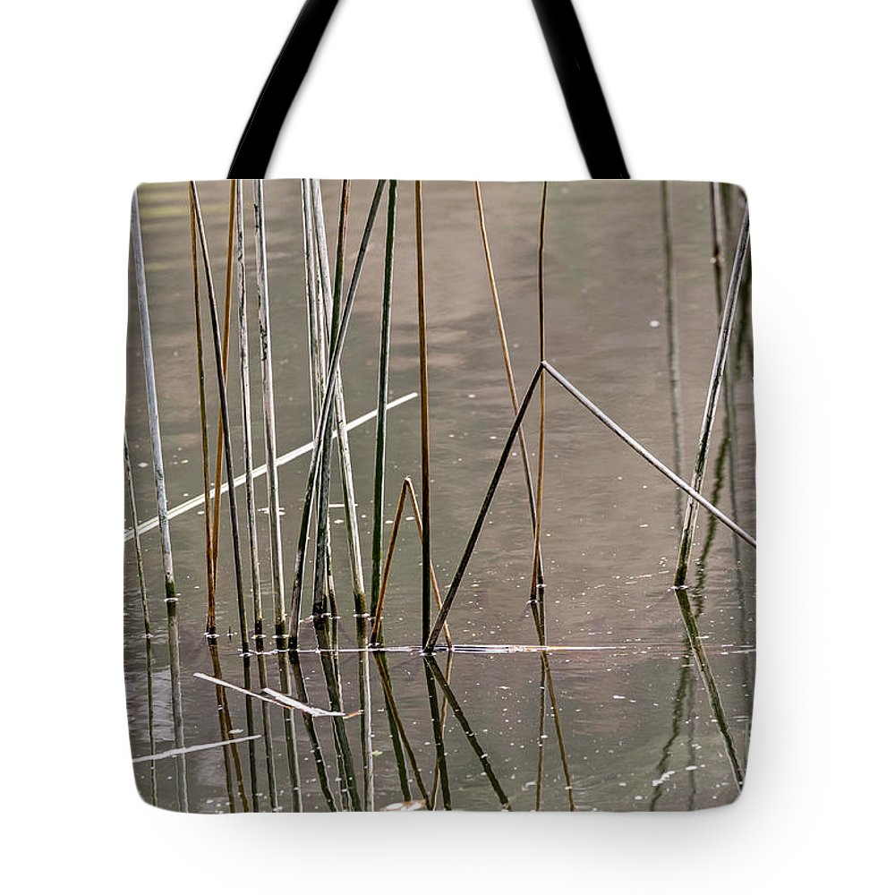 Abstract Tote Bag featuring the photograph Reeds by Kate Brown