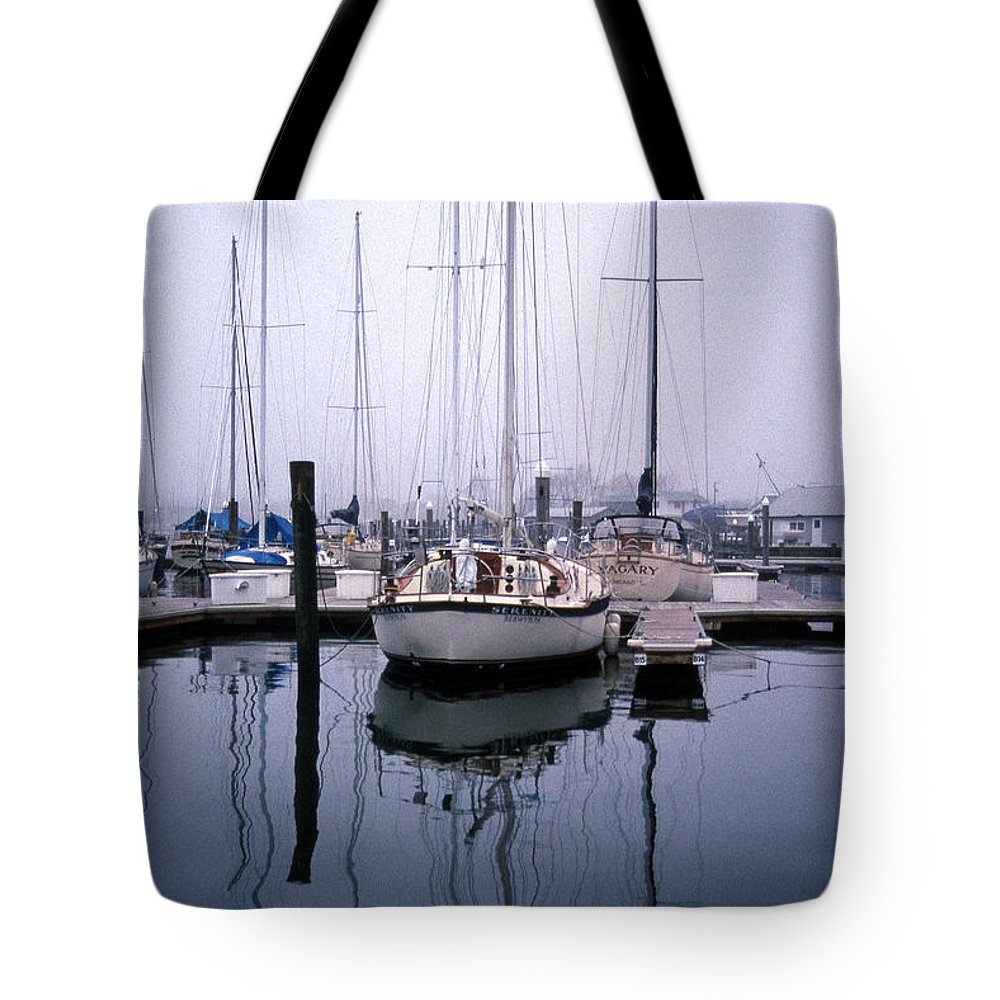 Maritime Tote Bag featuring the photograph Refections Of Serenity by Skip Willits