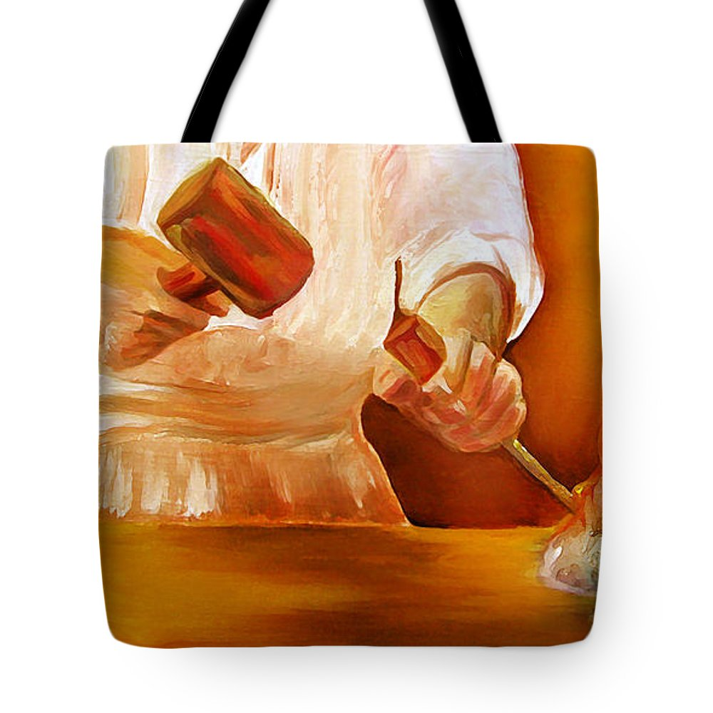Refine My Heart Tote Bag featuring the painting Refine My Heart by Jennifer Page
