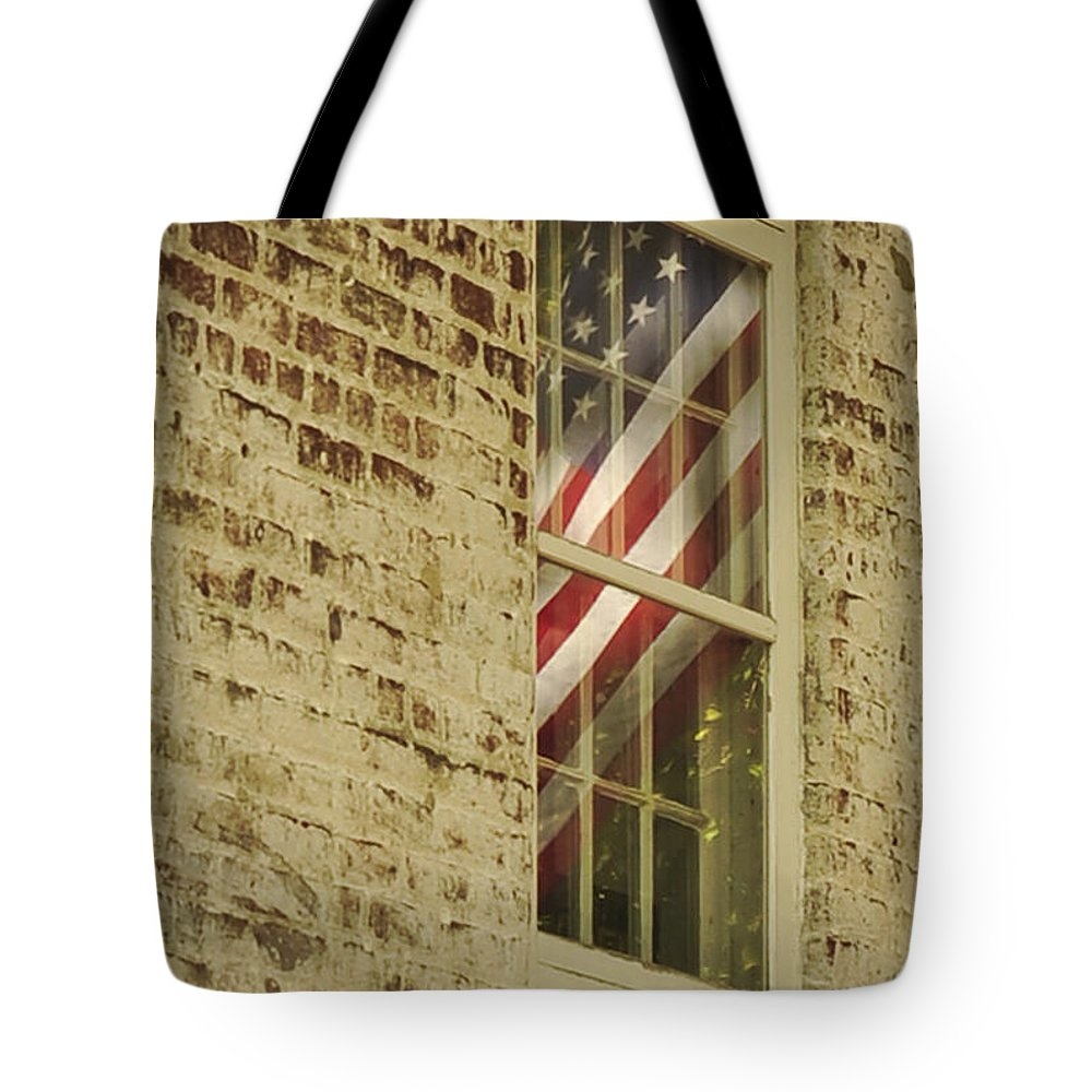 Window Tote Bag featuring the photograph Reflect by Terry DeLuco