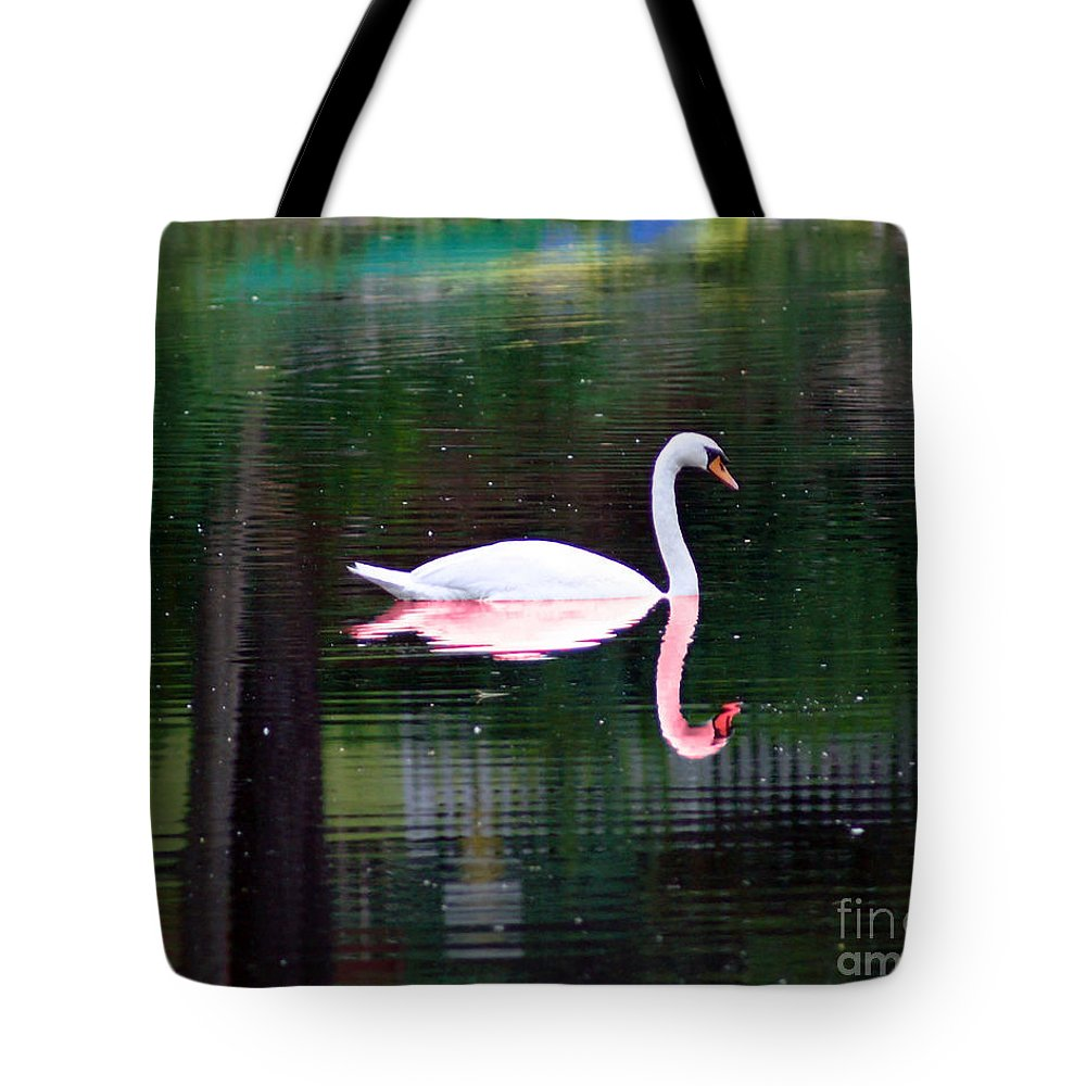 Swan Tote Bag featuring the photograph Reflect Yourself by Joe Geraci