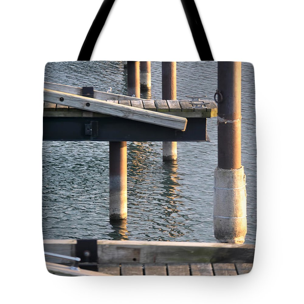 Water Tote Bag featuring the photograph Reflecting Repetitions V2 by Michael Frank Jr