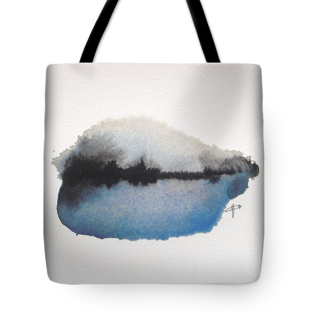 Abstract Tote Bag featuring the painting Reflection in the lake by Vesna Antic