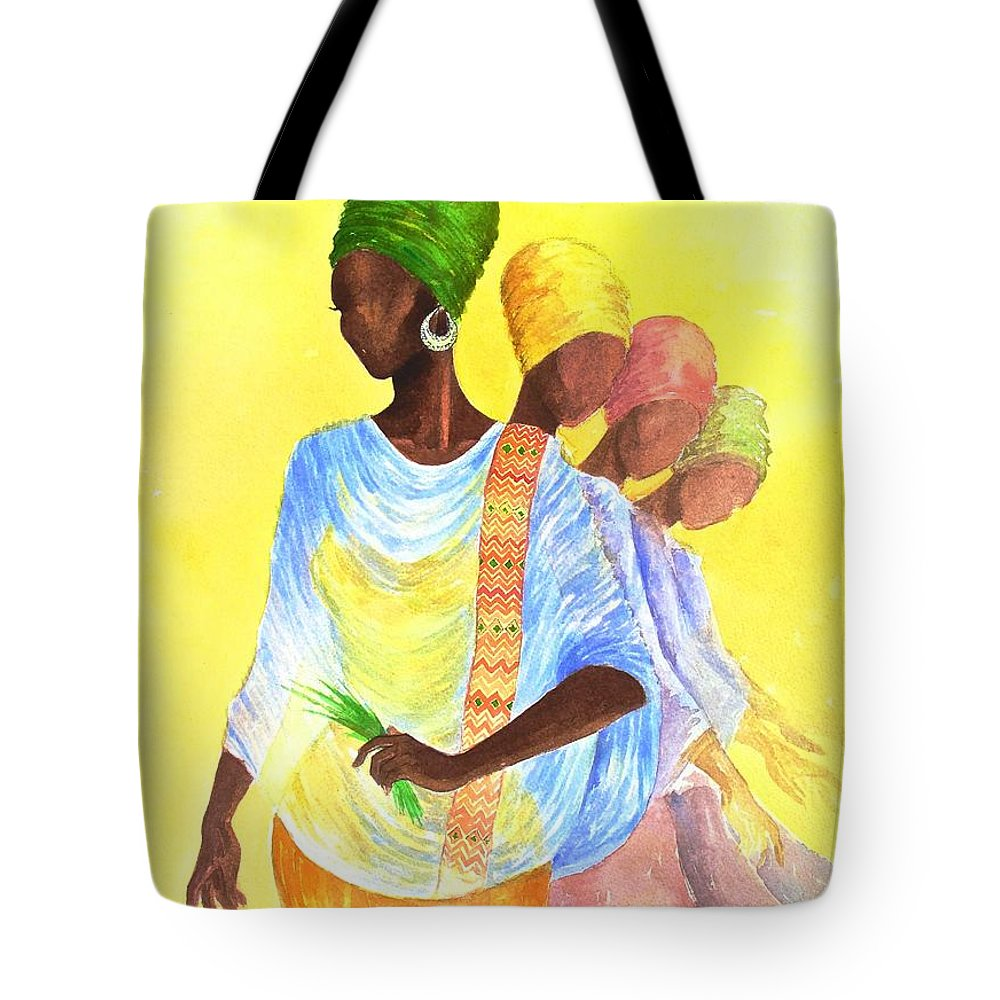 Mahlet Tote Bag featuring the painting Reflection by Mahlet