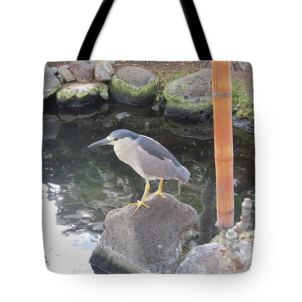 Heron Tote Bag featuring the photograph Reflection Of A Black-crowned Night Heron by Karen Winkfield