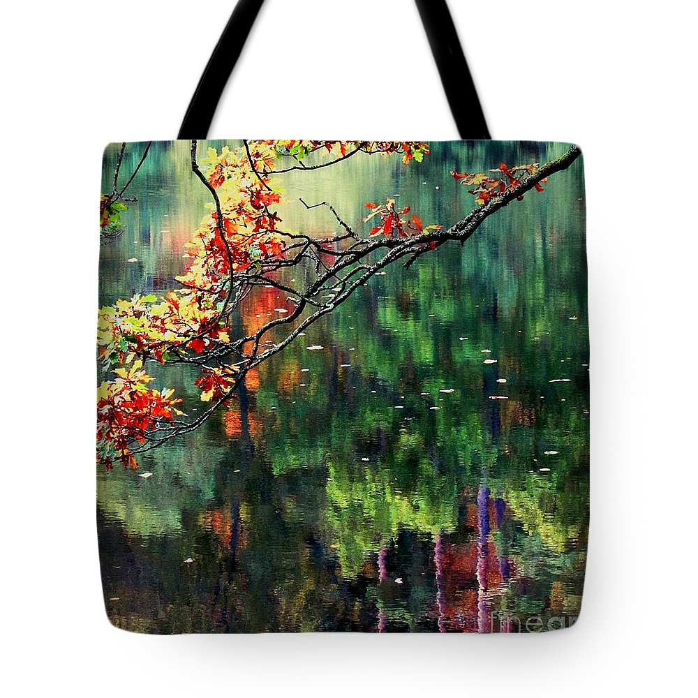 Reflections Tote Bag featuring the photograph Reflection Of Autumn by Callan Art