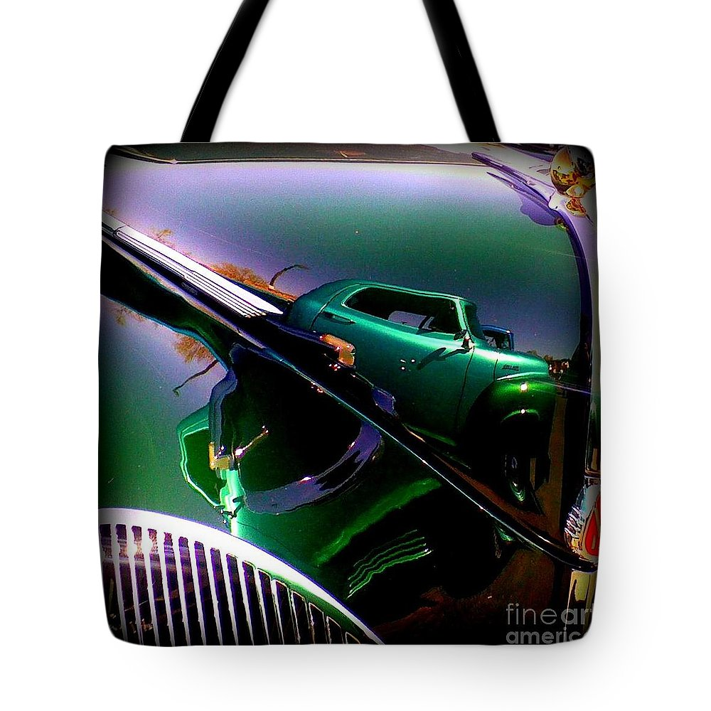 Oldie Tote Bag featuring the photograph Reflection Of Reflections by Bobbee Rickard