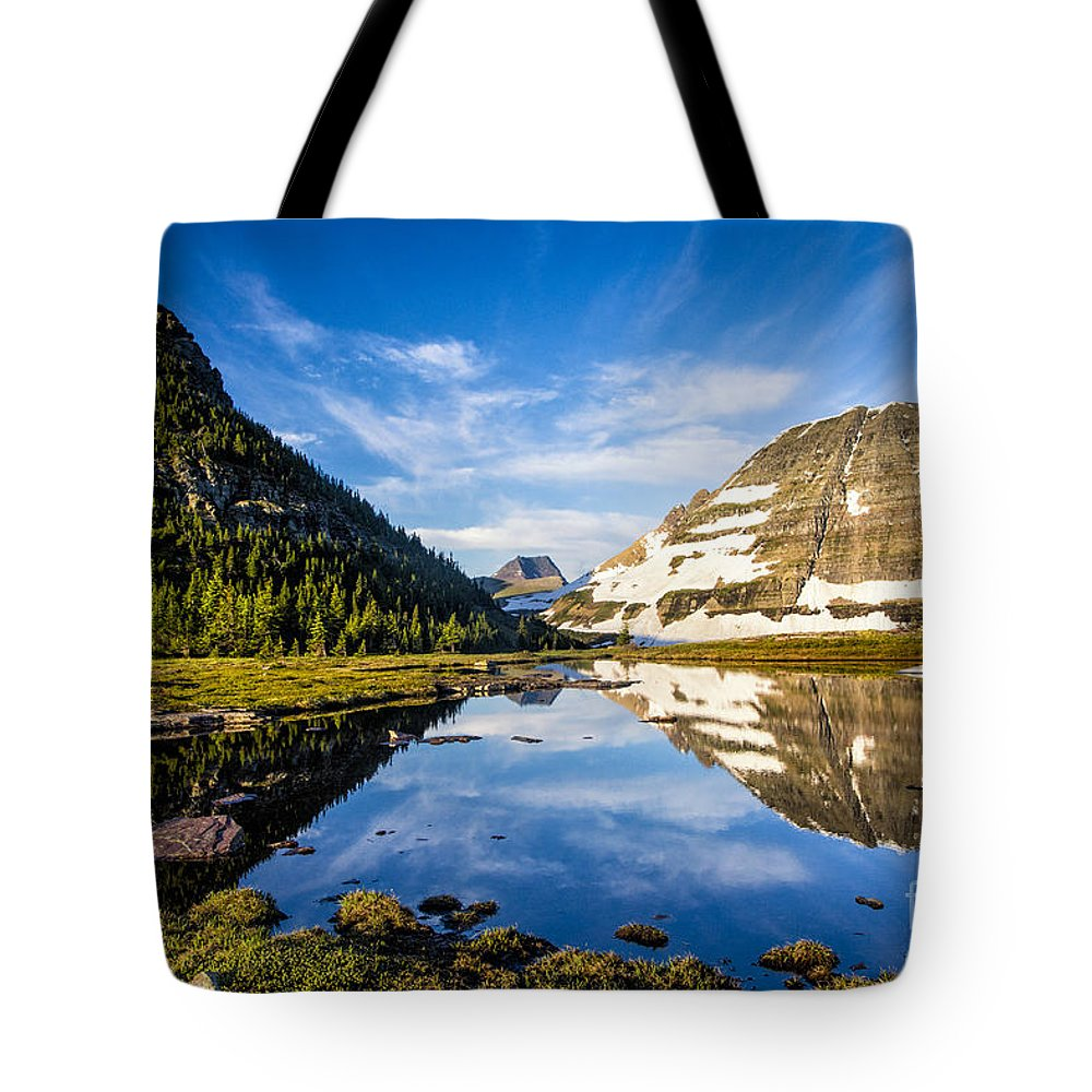 Glacier Tote Bag featuring the photograph Reflection Pool by Timothy Hacker