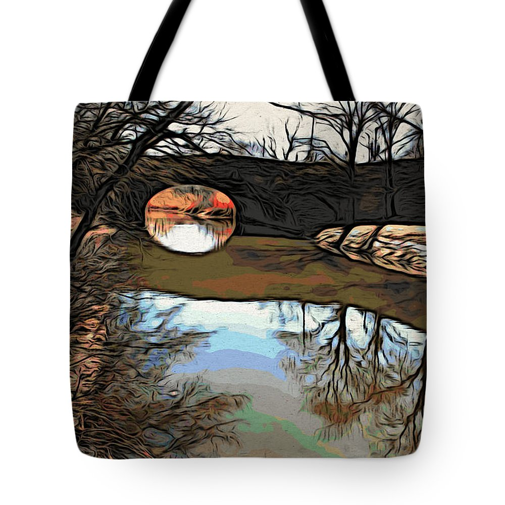 Water Tote Bag featuring the photograph Reflections In The Water by Alice Gipson