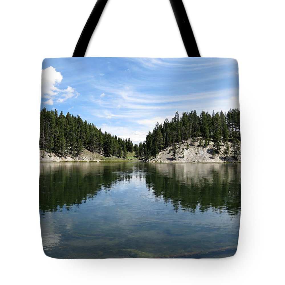 Reflections Tote Bag featuring the photograph Reflections by Laurel Powell