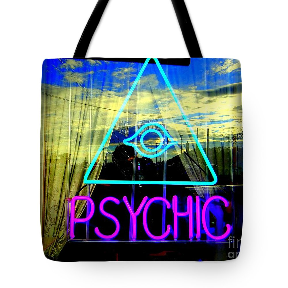 Window Tote Bag featuring the photograph Reflections Of A Psychic by Ed Weidman