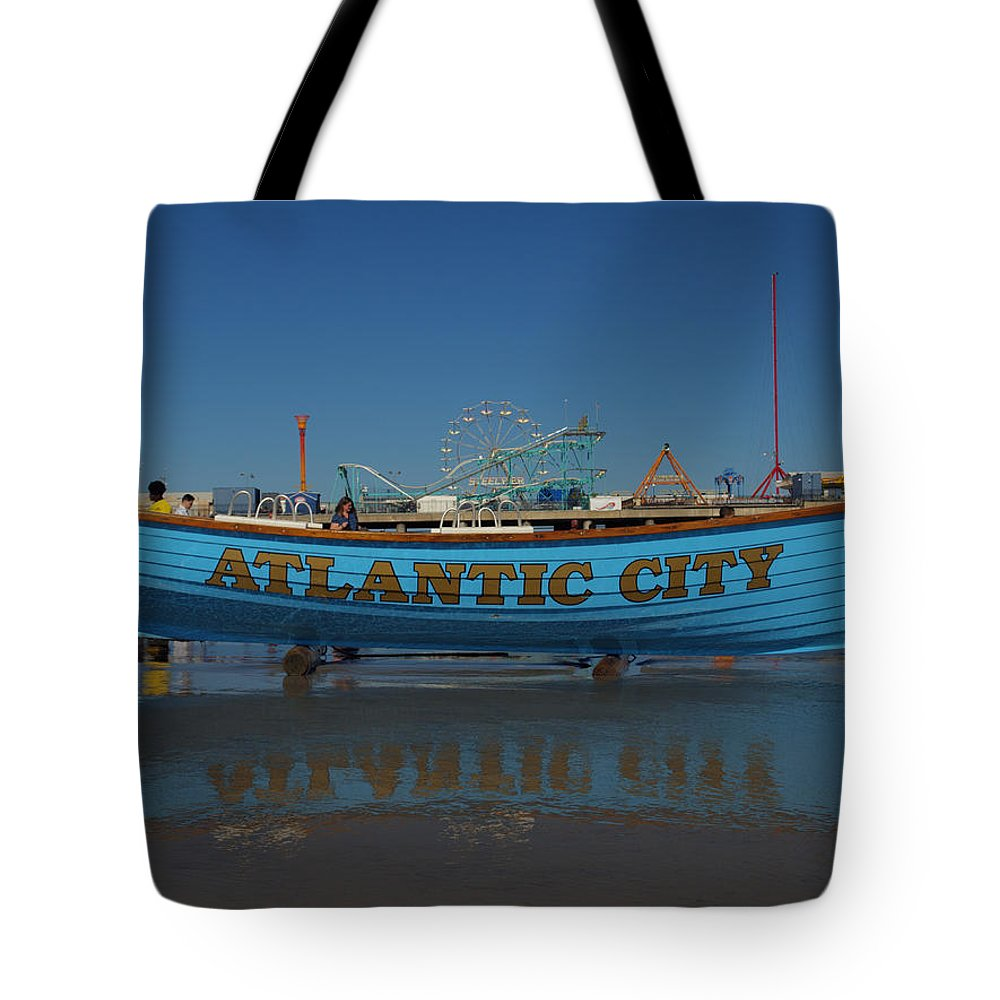 Atlantic City Tote Bag featuring the photograph Reflections Of Atlantic City by Joshua House