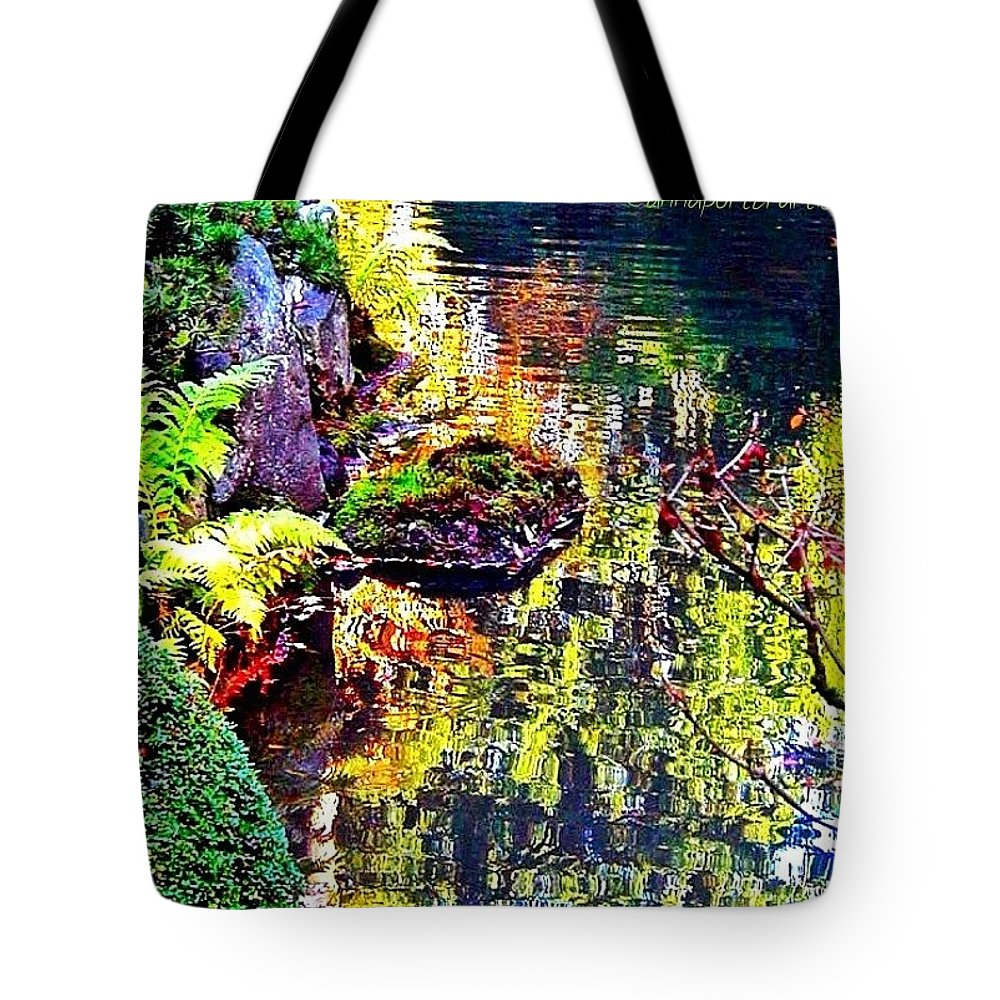 Autumn Tote Bag featuring the photograph Reflections Of Autumn by Anna Porter