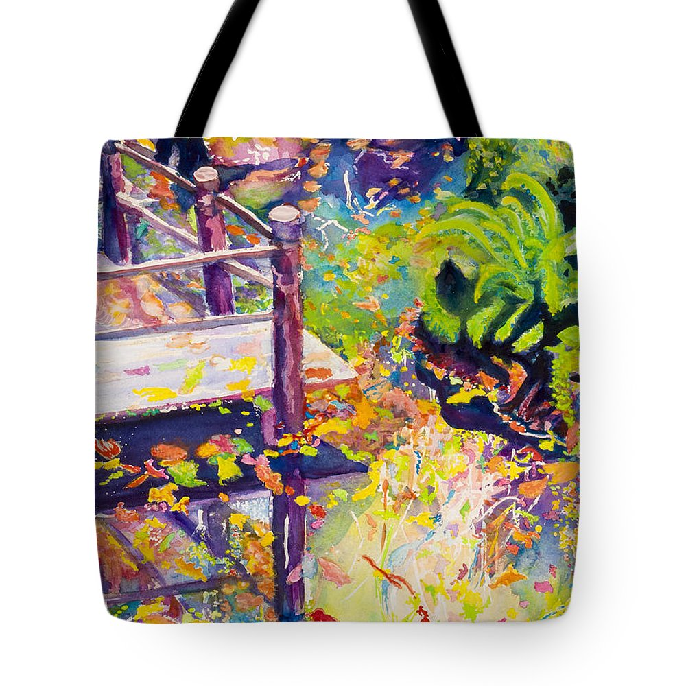 Art Tote Bag featuring the photograph Reflections of Autumn by Anna Porter