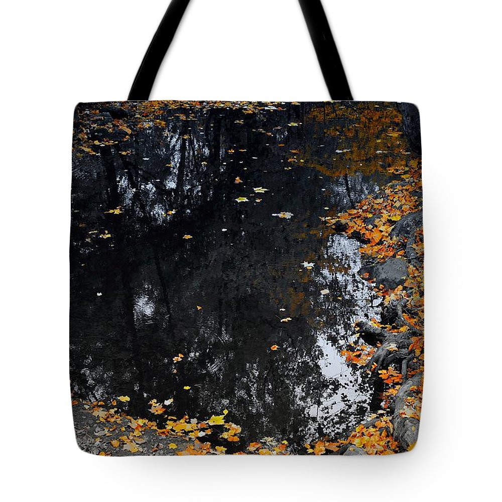 Reflections Tote Bag featuring the photograph Reflections Of Autumn by Photographic Arts And Design Studio