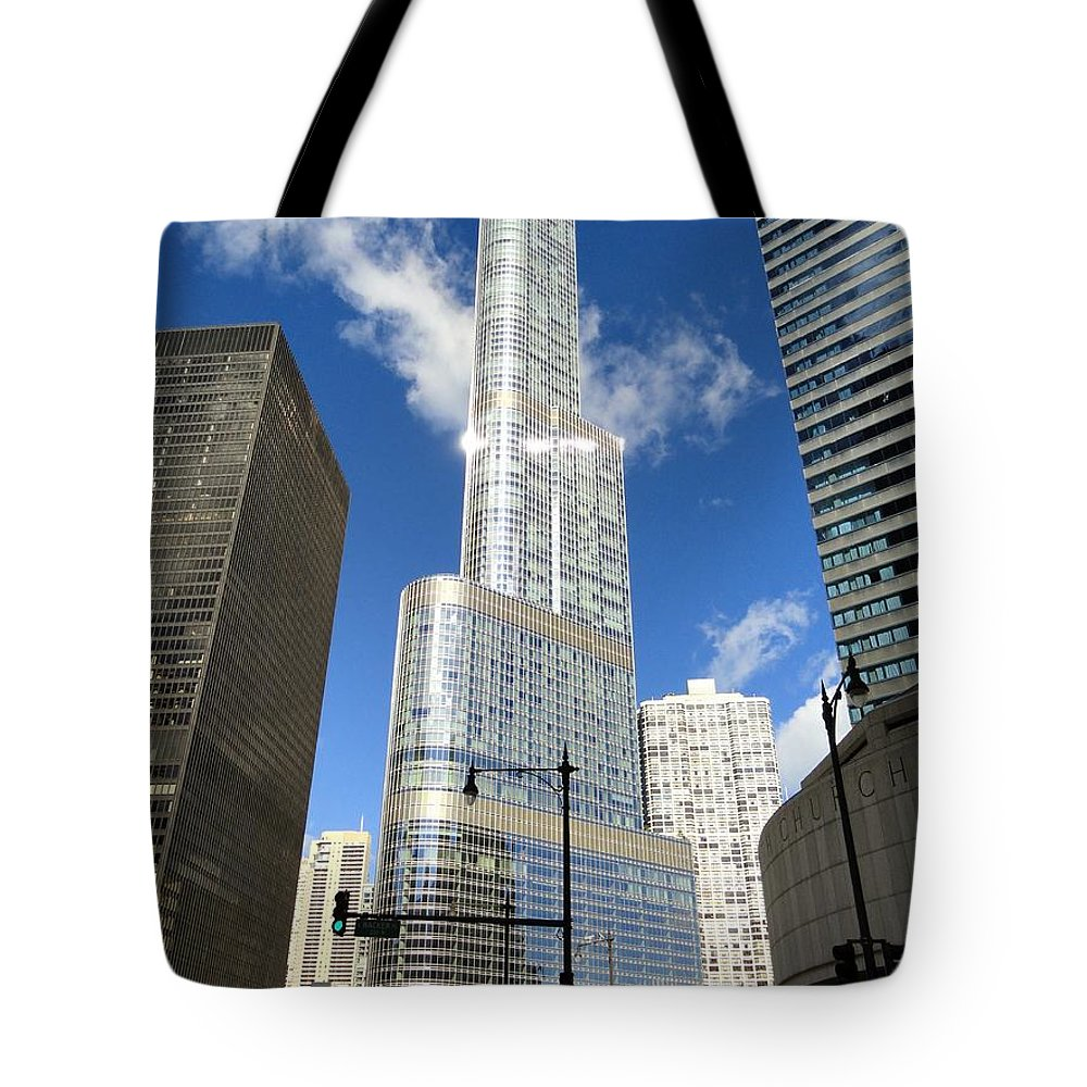 Chicago Tote Bag featuring the photograph Reflections Of Chicago by Mountain Dreams
