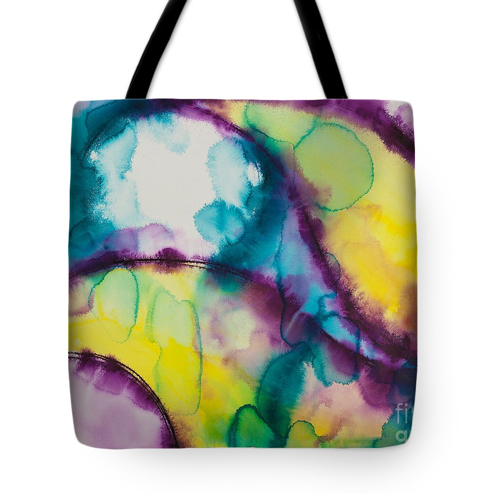 Ilisa Millermoon Tote Bag featuring the painting Reflections Of The Universe Series No 1390 by Ilisa Millermoon
