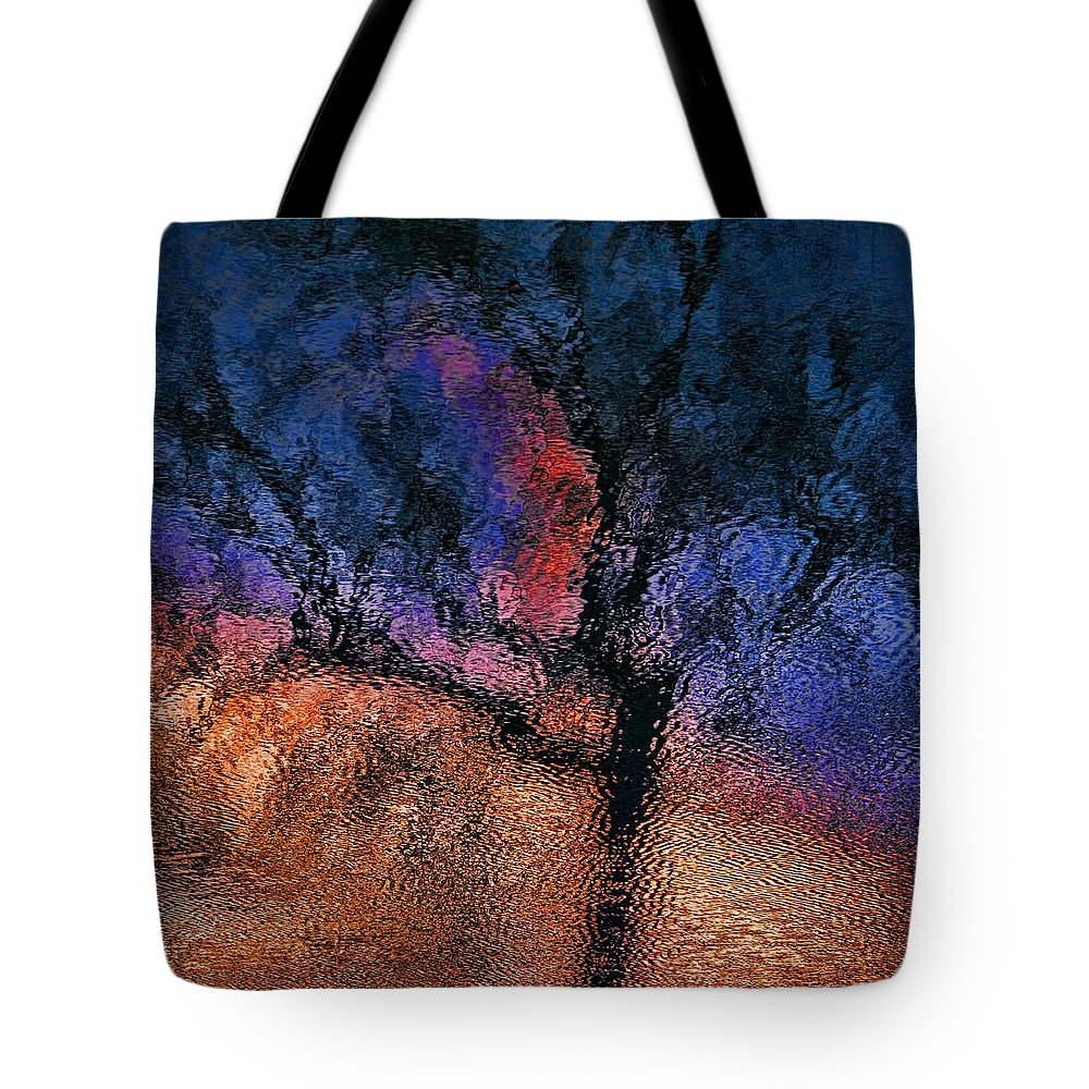 Mood Indigo Tote Bag featuring the photograph Reflections On Mood Indigo by Gary Holmes
