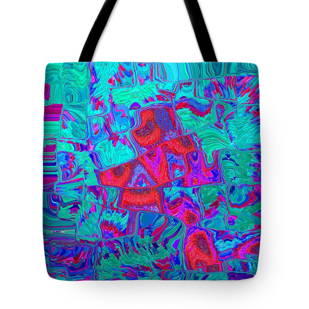 Abstract Tote Bag featuring the painting Reflections by Paul Ashby
