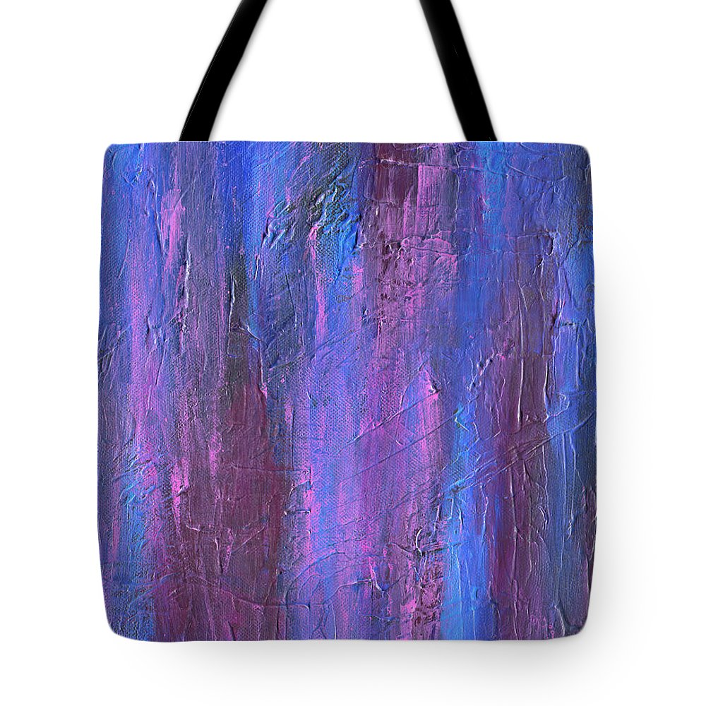 Reflections Tote Bag featuring the painting Reflections by Roz Abellera