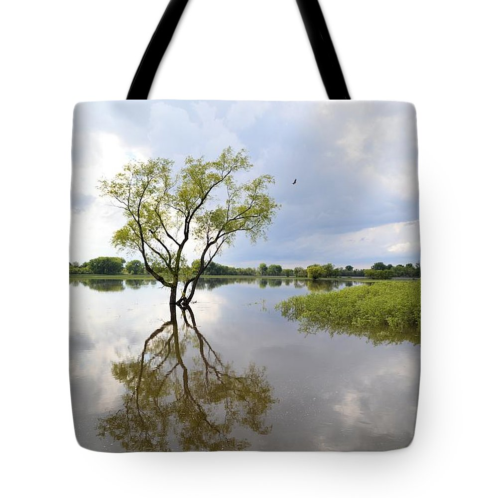 Reflect Tote Bag featuring the photograph Reflective Times by Bonfire Photography